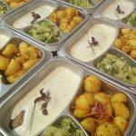 Yperling burger met gebakken aardappeltjes en groene groentjes